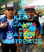 KEEP CALM AND WATLEK  WATPEACE - Personalised Poster A4 size