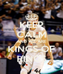 KEEP CALM AND WE ARE KINGS OF RINGS - Personalised Poster A4 size