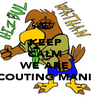 KEEP CALM AND WE ARE SCOUTING MANIA - Personalised Poster A4 size