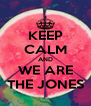 KEEP CALM AND WE ARE THE JONES - Personalised Poster A4 size