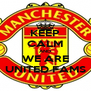 KEEP CALM AND WE ARE UNITED FAMS - Personalised Poster A4 size