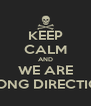 KEEP CALM AND WE ARE WRONG DIRECTION ! - Personalised Poster A4 size