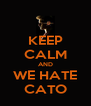 KEEP CALM AND WE HATE CATO - Personalised Poster A4 size