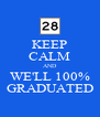 KEEP CALM AND WE'LL 100% GRADUATED - Personalised Poster A4 size