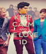 KEEP CALM AND WE LOVE  1D - Personalised Poster A4 size