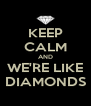 KEEP CALM AND WE'RE LIKE DIAMONDS - Personalised Poster A4 size