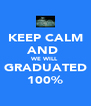 KEEP CALM AND  WE WILL GRADUATED 100% - Personalised Poster A4 size