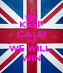 KEEP CALM AND WE WILL  WIN - Personalised Poster A4 size