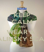 KEEP CALM AND WEAR A  MALINSKY SCARF - Personalised Poster A4 size