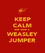 KEEP CALM and wear a  WEASLEY JUMPER - Personalised Poster A4 size