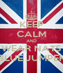 KEEP CALM AND WEAR NATS BLUE JUMPER - Personalised Poster A4 size