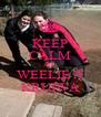 KEEP CALM AND WEELIE N KRUIWA - Personalised Poster A4 size