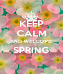 KEEP CALM AND WELCOME SPRING  - Personalised Poster A4 size