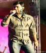 KEEP Calm And Welcome The King - Personalised Poster A4 size