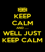 KEEP CALM AND .... WELL JUST KEEP CALM - Personalised Poster A4 size