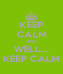 KEEP CALM AND WELL.... KEEP CALM - Personalised Poster A4 size
