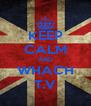 KEEP CALM AND WHACH T.V - Personalised Poster A4 size