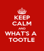 KEEP CALM AND WHAT'S A  TOOTLE - Personalised Poster A4 size