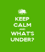 KEEP CALM AND WHAT'S UNDER? - Personalised Poster A4 size