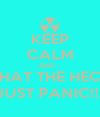 KEEP CALM AND -  WHAT THE HECK, JUST PANIC!!! - Personalised Poster A4 size