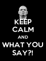 KEEP CALM AND WHAT YOU SAY?! - Personalised Poster A4 size