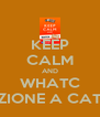 KEEP CALM AND WHATC REAZIONE A CATENA - Personalised Poster A4 size