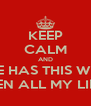 KEEP CALM AND WHERE HAS THIS WEBSITE BEEN ALL MY LIFE? - Personalised Poster A4 size