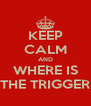 KEEP CALM AND WHERE IS THE TRIGGER - Personalised Poster A4 size