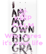KEEP CALM AND Who cares  it's your life  - Personalised Poster A4 size