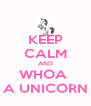 KEEP CALM AND WHOA  A UNICORN - Personalised Poster A4 size