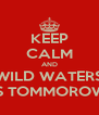 KEEP CALM AND WILD WATERS IS TOMMOROW - Personalised Poster A4 size