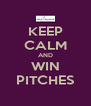 KEEP CALM AND WIN PITCHES - Personalised Poster A4 size