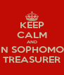 KEEP CALM AND WIN SOPHOMORE TREASURER - Personalised Poster A4 size