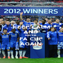 KEEP CALM AND WIN THE FA CUP AGAIN - Personalised Poster A4 size