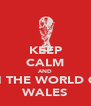 KEEP CALM AND WIN THE WORLD CUP WALES - Personalised Poster A4 size