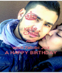 KEEP CALM AND wish 7abibi Joz A HAPPY BIRTHDAY - Personalised Poster A4 size