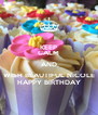 KEEP CALM AND WISH BEAUTIFUL NICOLE HAPPY BIRTHDAY - Personalised Poster A4 size