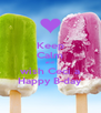 Keep Calm and wish Ceci a Happy B-day - Personalised Poster A4 size