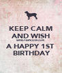 KEEP CALM AND WISH EINSTEIN DACUK A HAPPY 1ST  BIRTHDAY - Personalised Poster A4 size