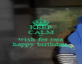 KEEP CALM and wish for rara happy birthday  - Personalised Poster A4 size