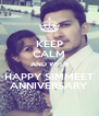KEEP CALM AND WISH HAPPY SIMMEET ANNIVERSARY - Personalised Poster A4 size