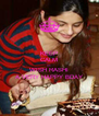 KEEP CALM AND WISH RASHI A VERY HAPPY BDAY - Personalised Poster A4 size
