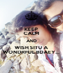 KEEP CALM AND WISH SITU A WONDRFUL BDAEY... - Personalised Poster A4 size