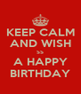KEEP CALM AND WISH SS A HAPPY BIRTHDAY - Personalised Poster A4 size