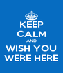 KEEP CALM AND WISH YOU WERE HERE - Personalised Poster A4 size