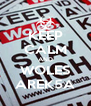 KEEP CALM AND WOLES AREK5A - Personalised Poster A4 size
