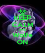 KEEP CALM AND Wolfe ON - Personalised Poster A4 size