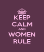 KEEP CALM AND WOMEN RULE - Personalised Poster A4 size