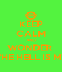 KEEP CALM AND WONDER  WHERE THE HELL IS MY TRAIN - Personalised Poster A4 size