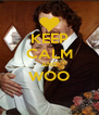 KEEP CALM AND WOO  - Personalised Poster A4 size